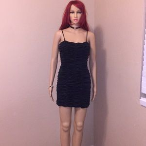 Size M forever 21 ruched dress with gold flecks